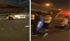 انهيار جسر في الصين فوق السيارات وسقوط ضحايا