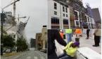 انهيار فندق وسقوطه على عدد من المارة في شارع عام بمدينة نيو أورليانز بأمريكا